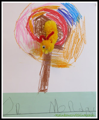 photo of: Kindergarten Writing for &quot;Very Hungry Caterpillar&quot; via RainbowsWithinReach