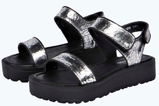 Boohoo Lauren Metallic Sandals