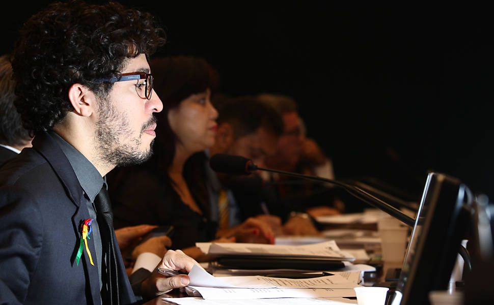 O deputado federal no Plenário do Congresso, durante sessão (Foto: Sérgio Lima/Folhapress)