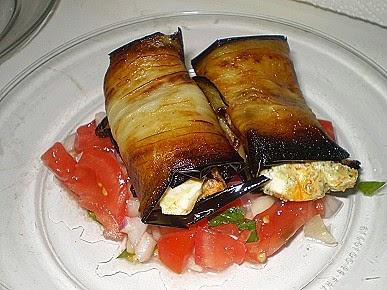 fried eggplant rolls