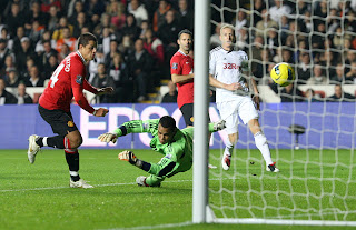 Swansea City Vs Mannchester United hernandez