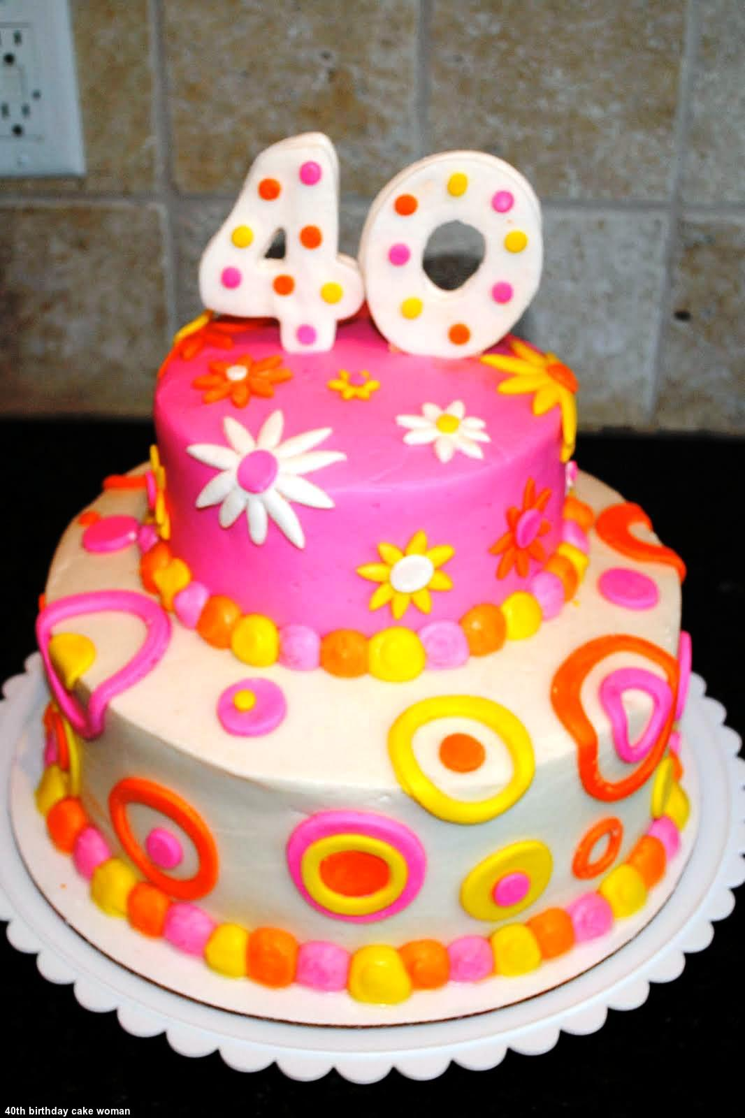 Cake Ideas For 40th Birthday Female : 40th Birthday Cake Woman Insipiration 2015 - The Best ...