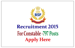 BSF Recruitment 2015 for the post of Constables