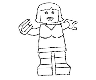 #7 Lego Coloring Page