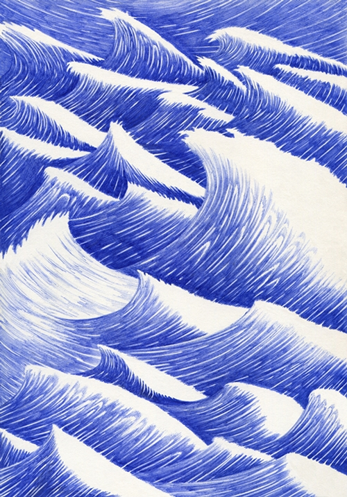 22-Vagues-Kevin-Lucbert-Ballpoint-Biro-Pen-Drawings-www-designstack-co