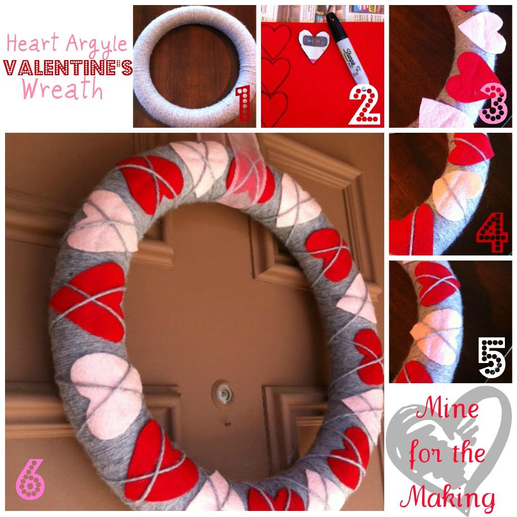 Heart argyle valentines wreath tutorial mine for the making heart argyle valentines wreath tutorial rubansaba