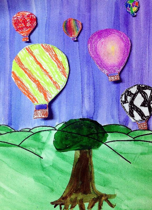 artfully me  hot air balloon art project