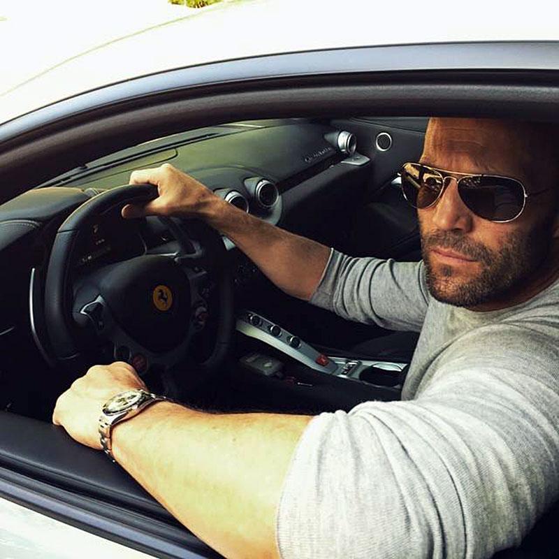 Jason Statham Driving Car