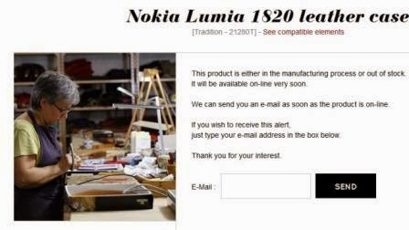 Not Release yet, Noreve Leather Casing Already Working on the Nokia Lumia 1820