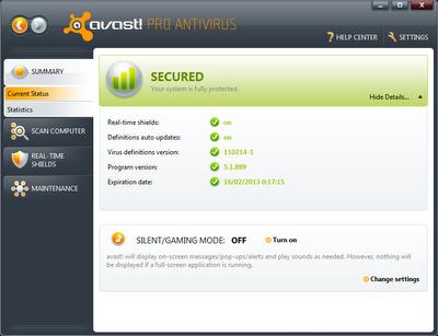 Avast! Antivirus Professional v7.0.1473.Final [Multi]