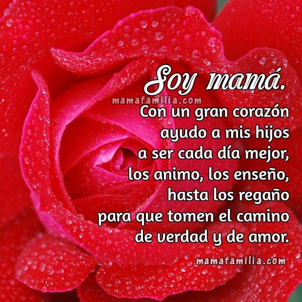 Bonitas palabras de una madre, mensaje para mi familia, imagen de mamá , poema madre
