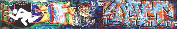 Graffitis con Zosen y Dam