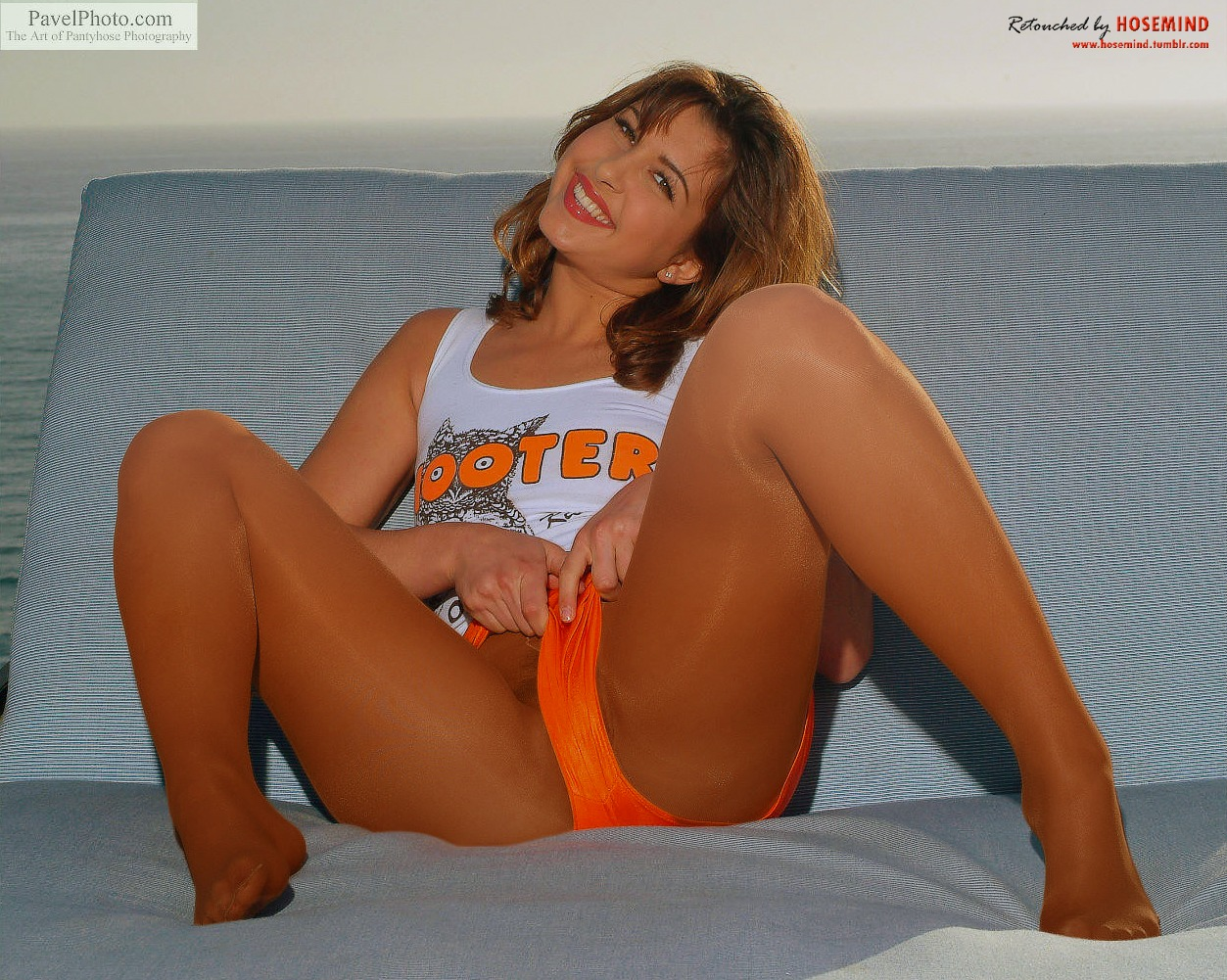 That necessary. hot tan girl in hooters pantyhose