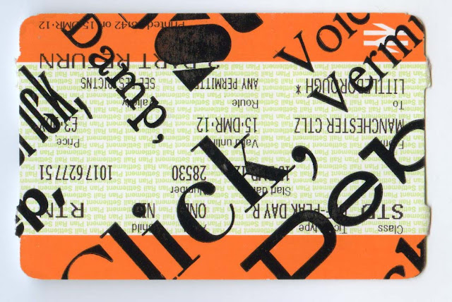 letterpress, train tickets, maps, tradition, text, type, graphic design, mmu, manchester school of art, urban exploring, seeing the city differently, psychogeography, situationist art