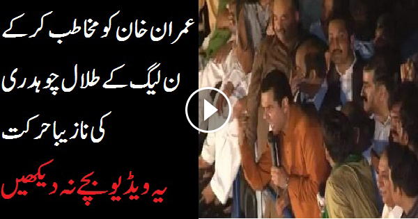 PMLN LEADER TALAL CHAUDHRY ABUSING IMRAN KHAN OPENLY