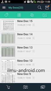 cara scan foto dokumen android jadi pdf
