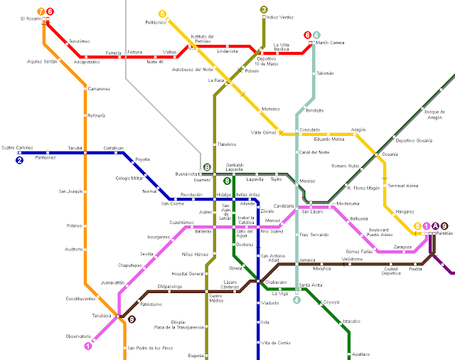 Subway Map of Mexico City
