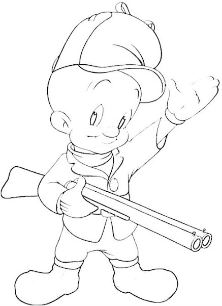 Elmer Fudd Coloring Pages
