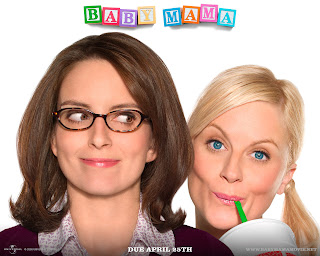 Baby Mama (released in 2008) - a comedy movie starring Tina Fey, Amy Poehler, Sigourney Weaver, Greg Kinnear, and Dax Shepard