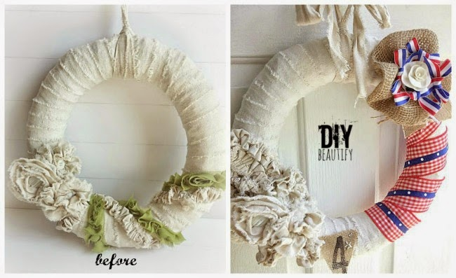DIY beautify July 4 wreath
