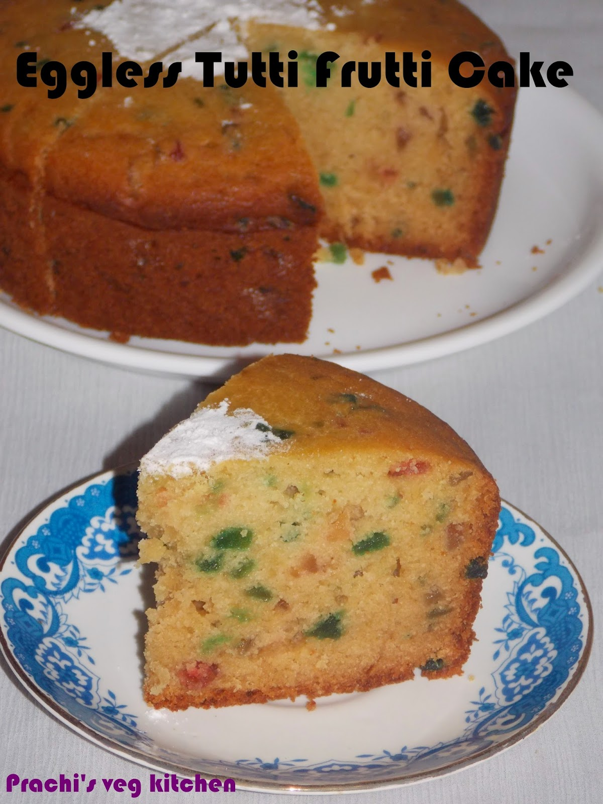 how to make eggless vanilla cake at home in oven