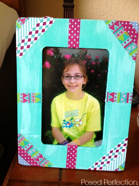 Washi Tape Picture Frame Mother's Day Gift