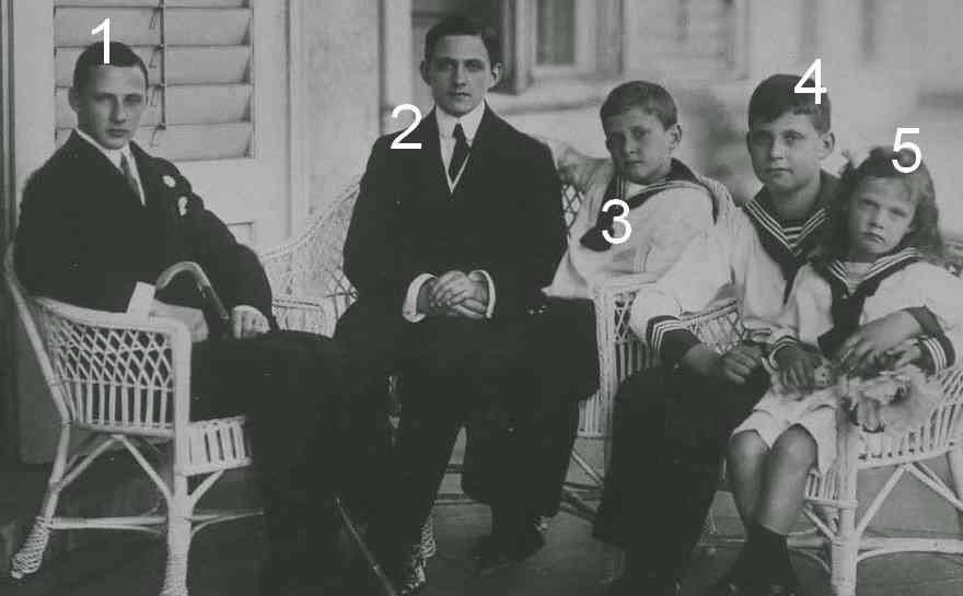 Leopold, Rainier, Franz Josef, Anton et Carlos d'Autriche-Toscane-Habsbourg
