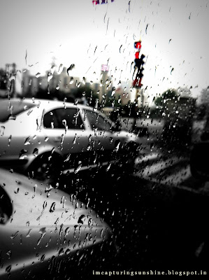 Rain in the streets b/w