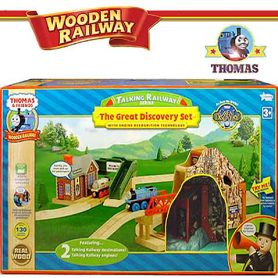 Model steam engine recognition technology employed Great Discovery Thomas talking train set layout