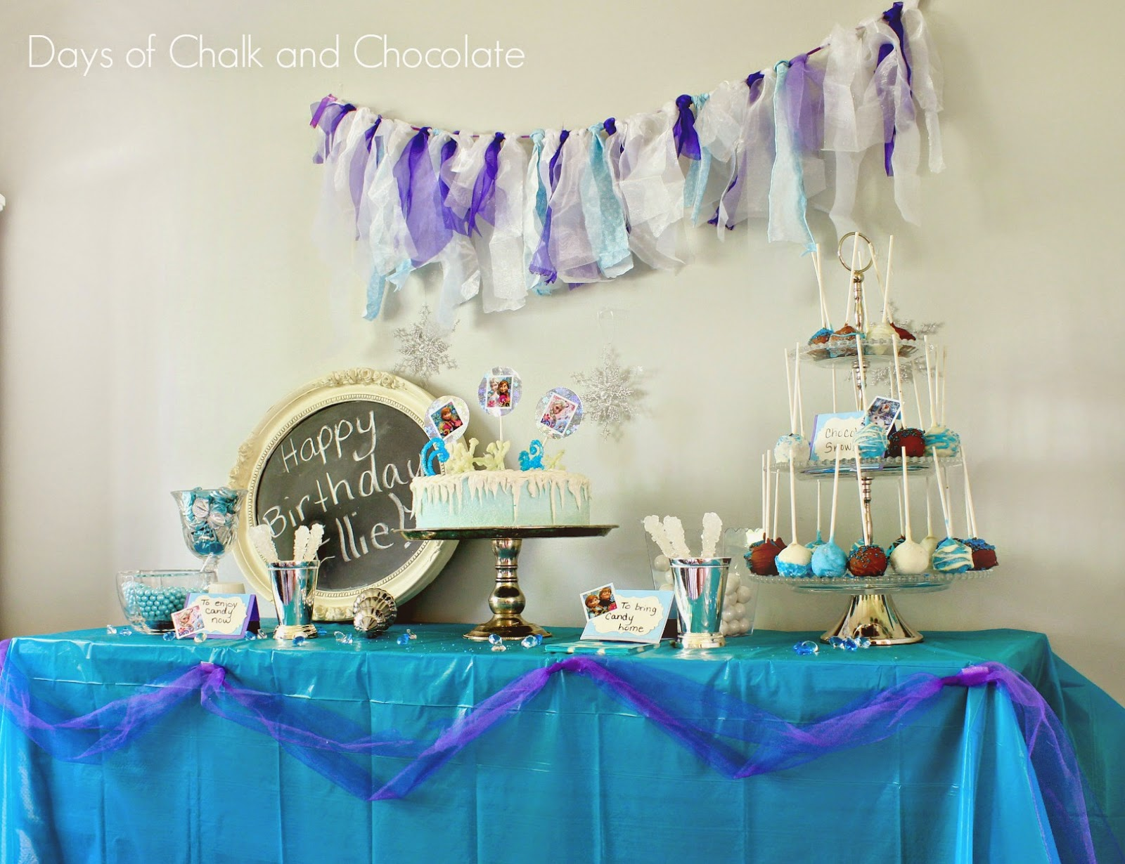 frozen dessert table candy