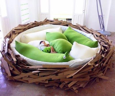Decoração cama design Há dias que não me importava de ser galinha
