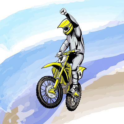 motosport illustration supercross