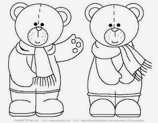 Imagens de Ursinhos - Dois Ursinhos - Desenhos para colorir