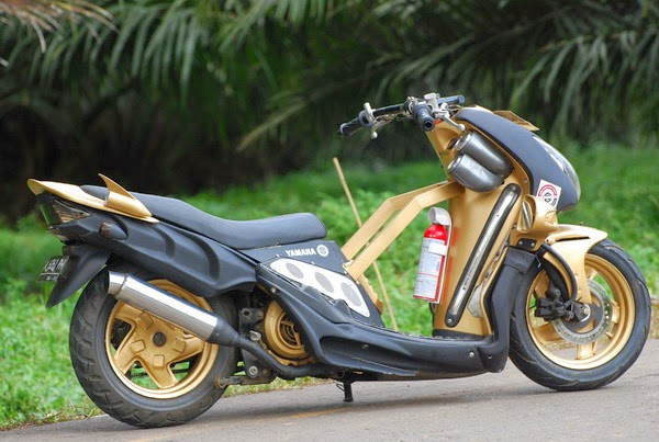 modifikasi motor mio super minor