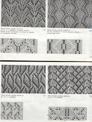 ажурные узоры для вязания на машине