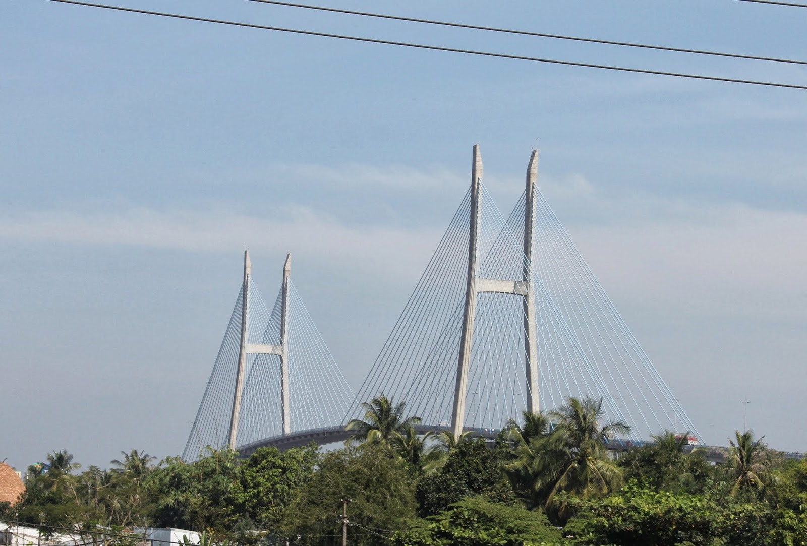 Rạch Miễu Bridge, a cable-stayed suspension bridge over the Mekong River.