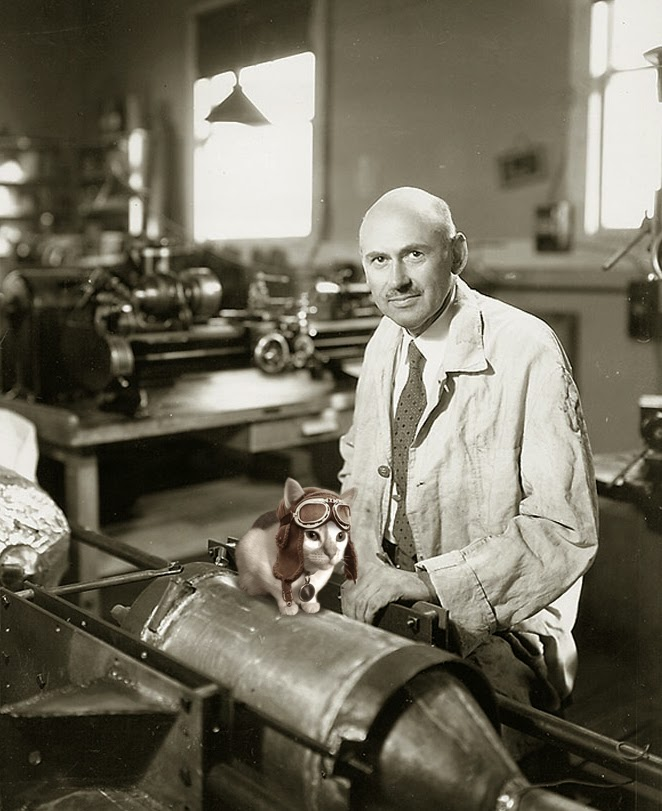 Science cats Chloe Robert Goddard rockets rocketry liquid-fueled Josef Spalenka