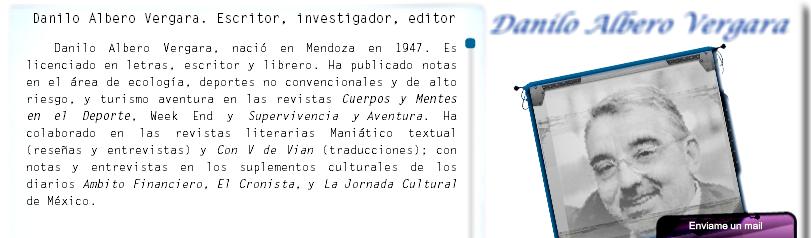 Danilo Albero Vergara escritor Argentino