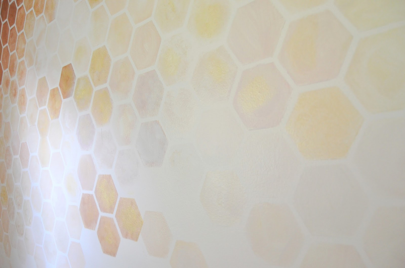 Gold shimmer paint for walls affordable popular house paint great honeycomb wall stencil diy for nursery with gold shimmer paint for walls amipublicfo Choice Image