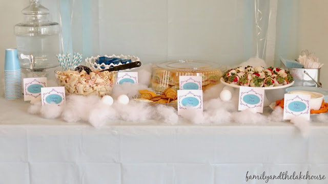 Frozen Themed Birthday Party - Food Ideas -Family and the Lake House