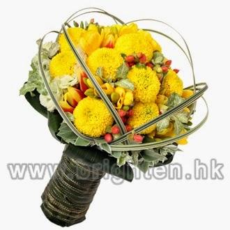 黃鬱金香 , 兵乓菊 , 長春藤花球