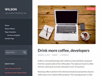 Wilson Responsive WordPress Theme