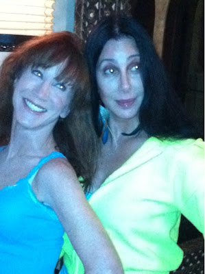 Close-up photo of Cher and Kathy Griffin taken from Cher's Twitter account