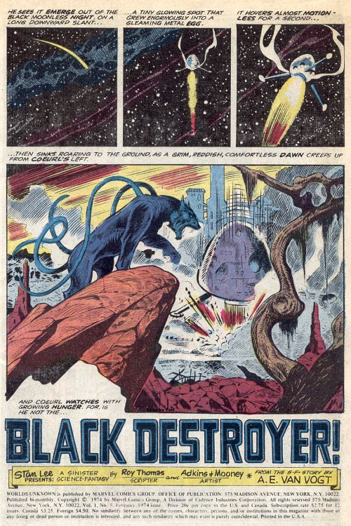 Atomic kommie comics reading room worlds unknown black destroyer d a clear inspiration for aspects of movie and tv science fiction ranging from forbidden planet and alien to star trek and space 1999 among others fandeluxe Choice Image