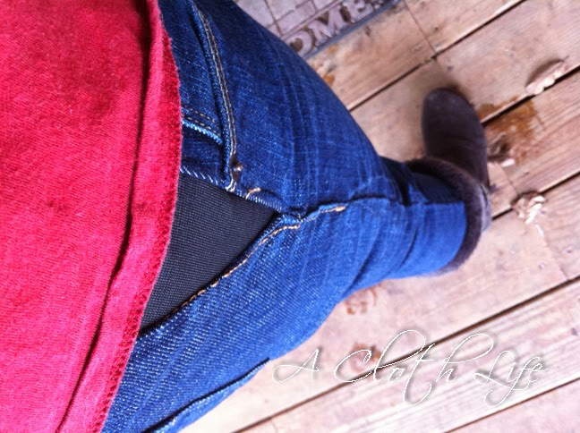 DIY Maternity Jeans Makeover: a cloth life {blog}