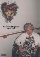 Gabrielle Magniette 1897-1998 blies haar honderd kaarsjes uit