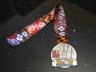 Frederick half marathon finisher medal 2013