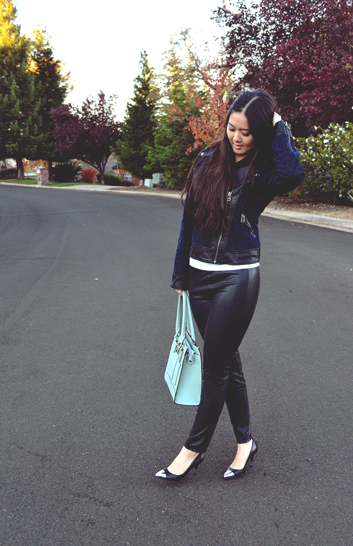 cute leather pants outfit