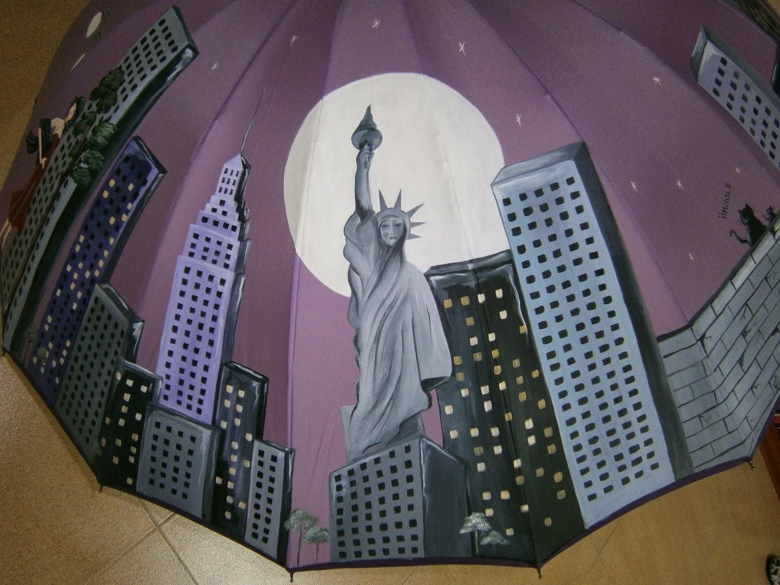 Zapatearte paraguas la noche en nueva york - Sombrilla de mano ...