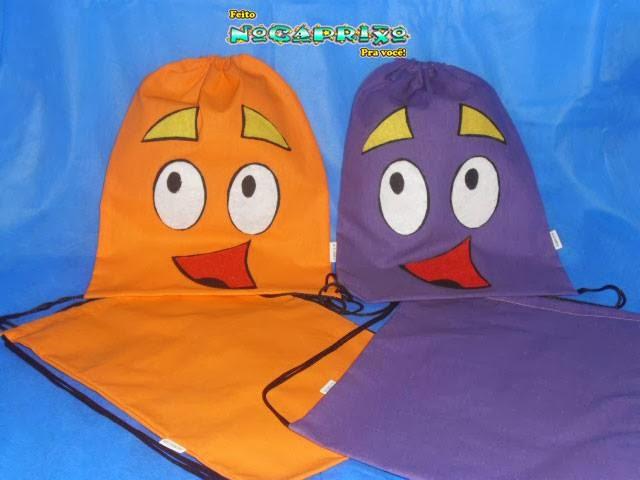 Dora Aventureira - Sacolinhas em tecido com aplicação em feltro